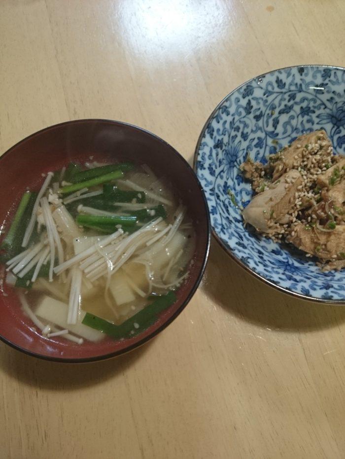 胸肉疲労回復スープ