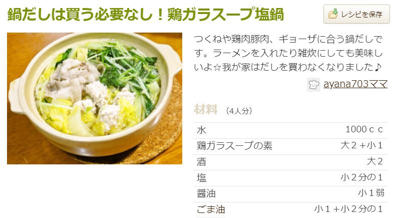 人気鍋レシピつくれぽ1000